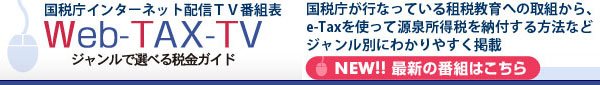 国税庁 Web-TAX-TV